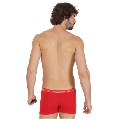 Cueca boxer masculina em viscolycra com elástico exposto e abertura D22