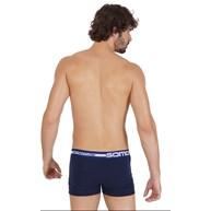 Cueca boxer masculina em viscolycra lisa com elástico exposto D20.A