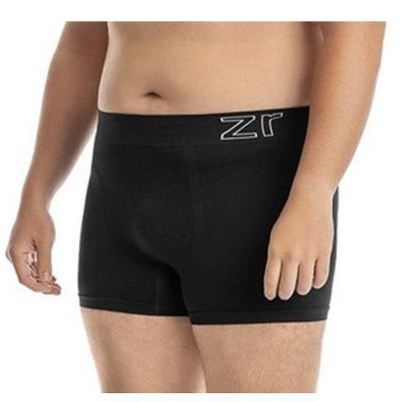 Cueca Boxer Plus Size Sem Costura Super Conforto D05.C PRETO