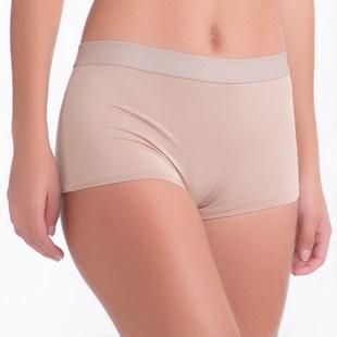 Cueca Feminina em Microfibra Premium Conforto Lisa com Elástico Exposto A03.A