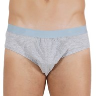 Cueca slip em algodão liso com elástico exposto D83.B