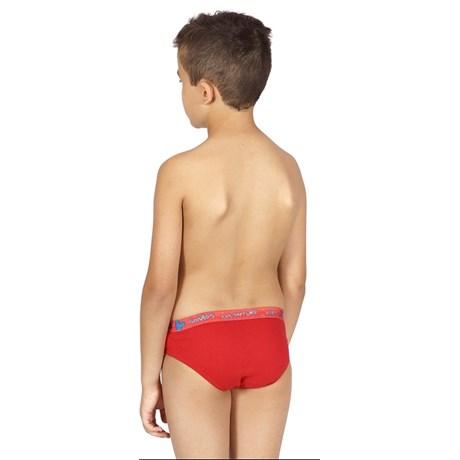 Cueca Slip Infantil em Algodão com Elástico Exposto E10