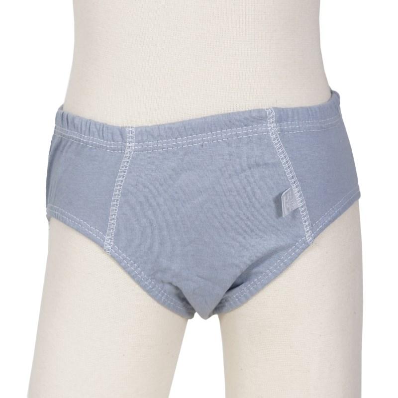 Cueca slip Infantil em algodão liso com cós embutido E04 CINZA