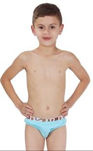 Cueca slip infantil em algodão liso com elástico exposto E27.A