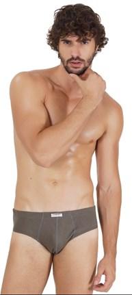 Cueca slip masculina em algodão liso com elástico embutido D55