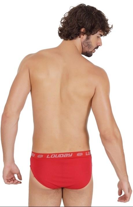 Cueca slip masculina em helanca lisa com forro em algodão D09