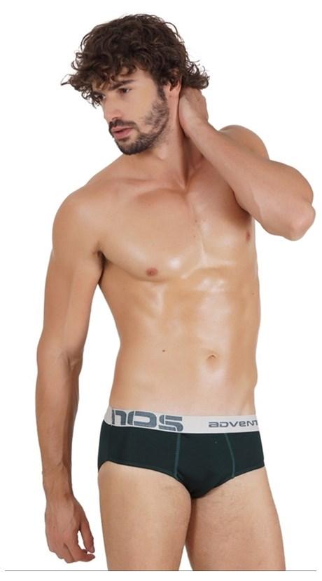 Cueca Slip masculina em Microfibra lisa e Elástico Exposto D26