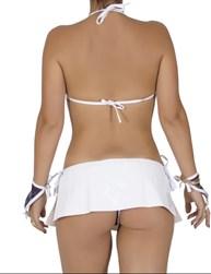 Fantasia sexy de marinheira em tule com acessórios M01.A