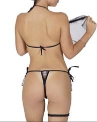 Fantasia sexy noivinha sensual em tule com acessórios M44.A