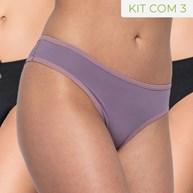 Kit de Calcinha Conforto em Microfibra Premium com 3 unidades KITB06.B