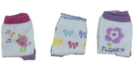 Kit meia bebê em algodão personalizado com 3 pares G18.B