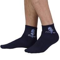 Kit meia esportiva masculina 3 pares com detalhe lateral G47.A