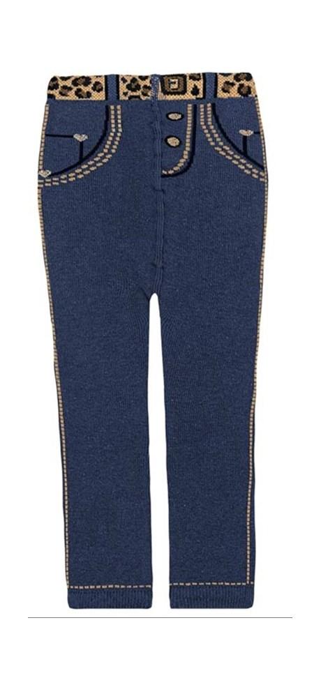 Meia calça jeans feminina para bebê em algodão G49.B