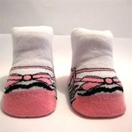 Meia recém-nascido em algodão estampada G16.A