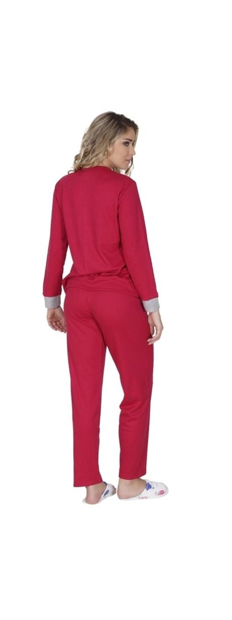 Pijama cangurú de inverno em malha canelada e elástico embutido L32.B