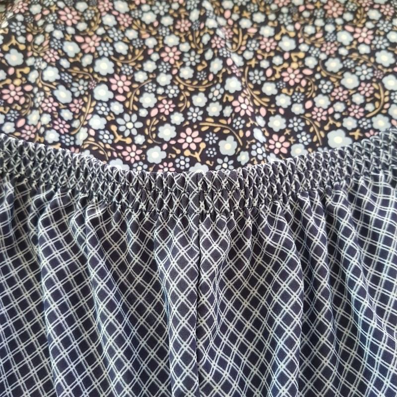 Pijama Conforto em Microfibra Estampada com Short Longo e Camiseta L12.C AZUL FLORES AZUL