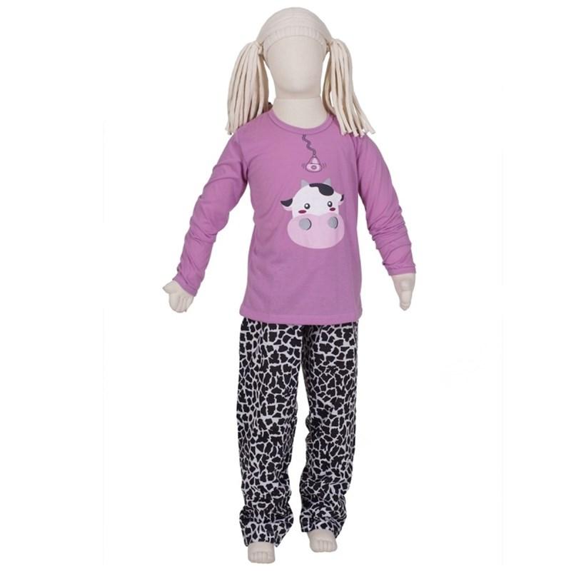 9363da893f9ce7 Pijama de inverno feminino infantil em algodão R33.A