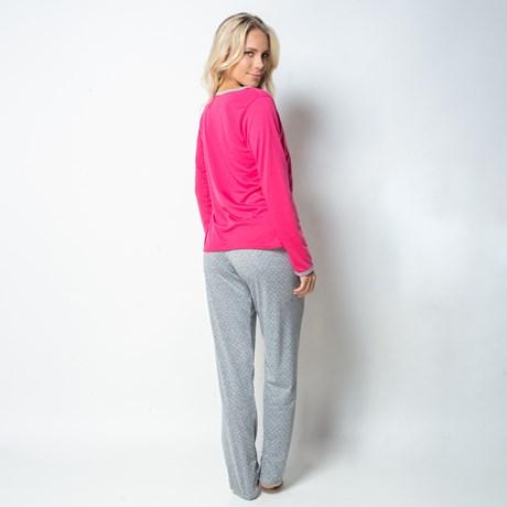 Pijama de inverno manga longa em malha estampada L22.B