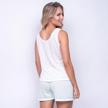 Pijama em Malha Estampada Short e Camiseta L09.C