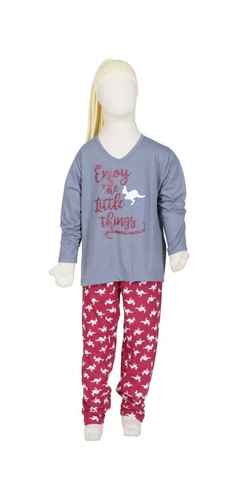 Pijama infantil de inverno em malha estampada R20.B
