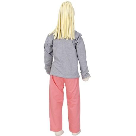 Pijama infantil feminino em moletinho flanelado com estampa R06.B