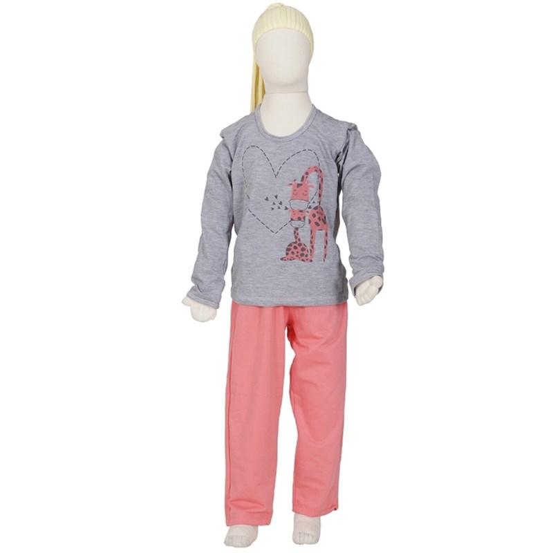 Pijama infantil feminino em moletinho flanelado com estampa R06.B GOIABA VARIADO