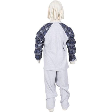 Pijama infantil masculino de inverno em malha canelada R29.A