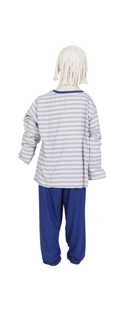 Pijama infantil masculino de inverno em malha listrada R16.A