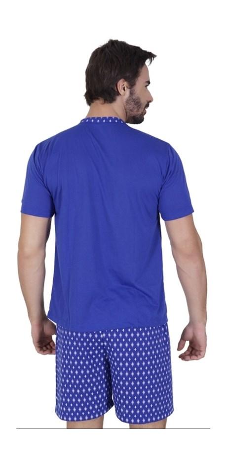 Pijama masculino manga curta em malha com botões Q09.A