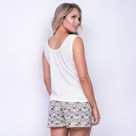 Short Doll em Malha Camiseta com Desenho Short Estampado L10.C