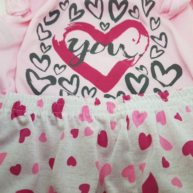 Short Doll em Malha Camiseta com Desenho Short Estampado L10.C ROSA CLARO