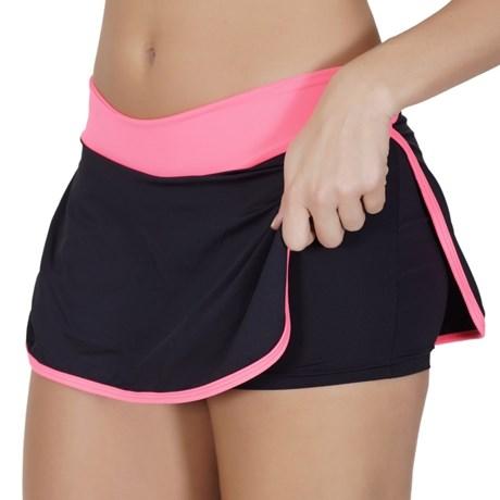 Short saia fitness em microfibra lisa V153.B