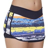 Short saia fitness em suplex estampado com cós largo V45.C