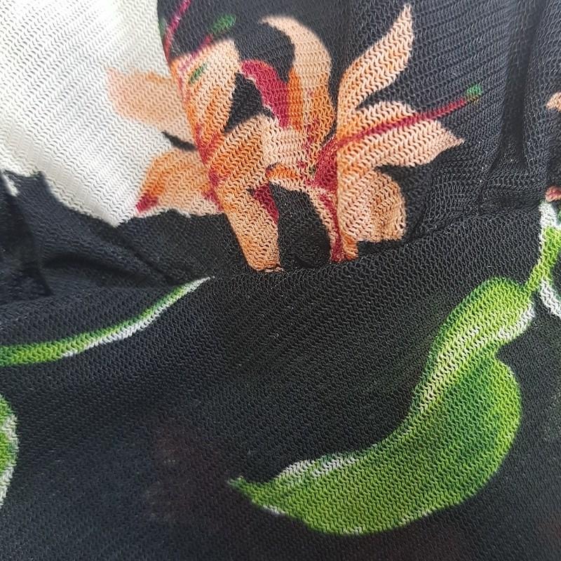 Soutien Cropped em Tule com Detalhes em Renda com Forro C63 PRETO FLORES