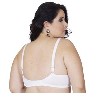 Soutien plus size reforçado strappy bra em microfibra lisa AA39.A