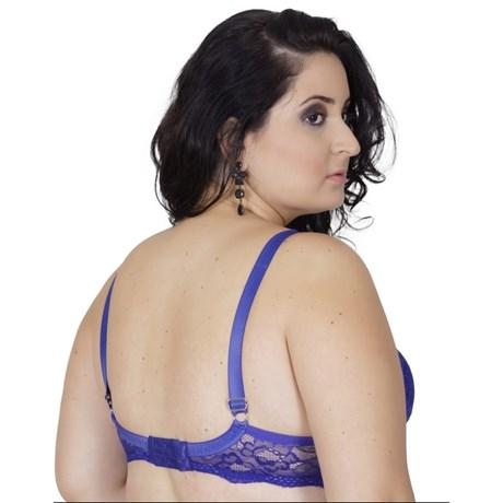 Soutien plus size reforçado strappy bra em renda AA87.A