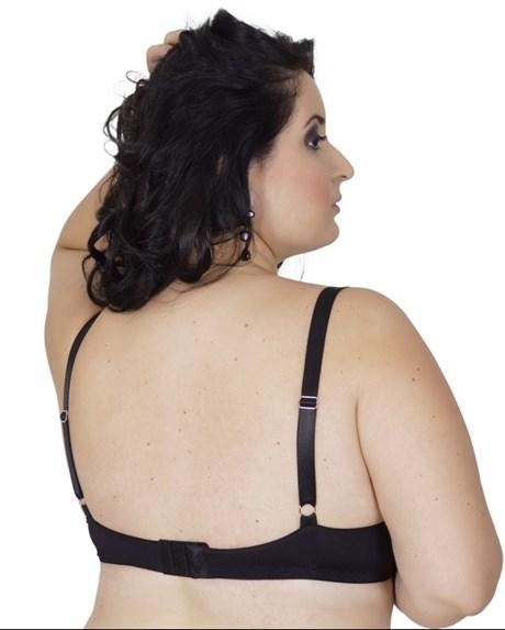 Soutien plus size strappy bra em microfibra lisa com strass AA60.C