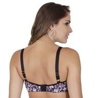 Soutien reforçado strappy bra em microfibra estampada I157
