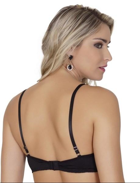 Soutien strappy bra em microfibra lisa com laço em cetim I19.B