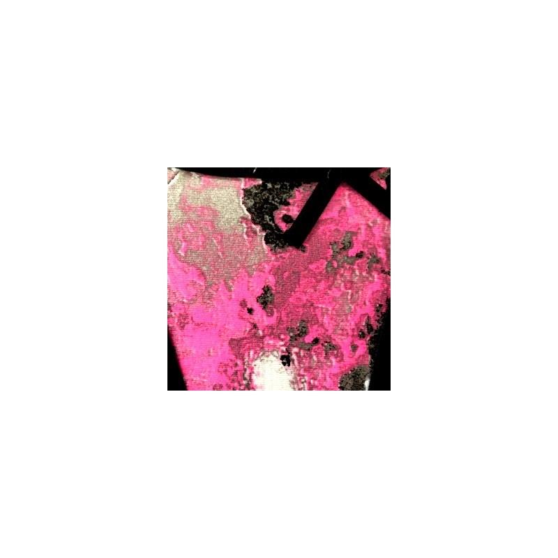 Tanga em microfibra estampada com lacinho lateral em cetim F31.B PRETO VARIADO