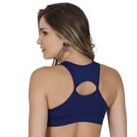 Top fitness sem bojo em suplex liso com detalhe nas costas V105.A