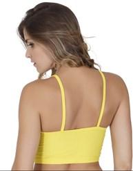 Top fitness strappy bra sem bojo em suplex liso texturizado V89.A