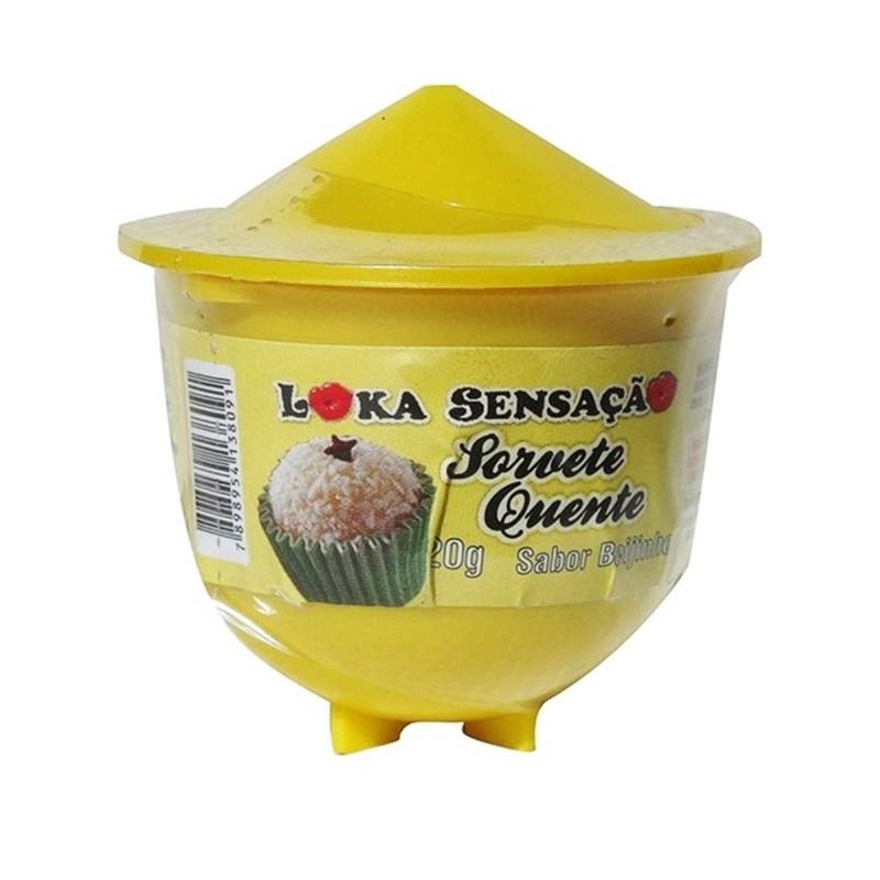 Vela beijável comestível sorvete quente 20g S98 BEIJINHO