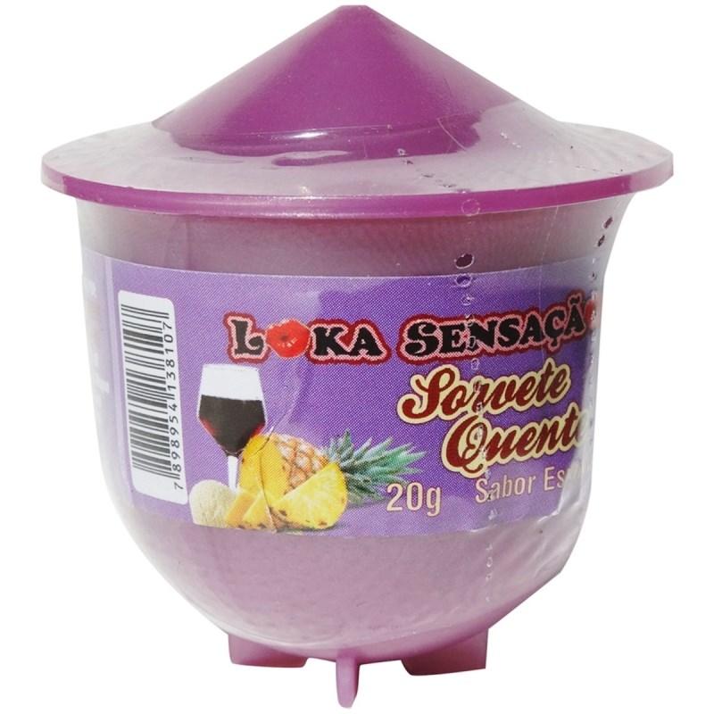 Vela beijável comestível sorvete quente 20g S98 ESPANHOLA
