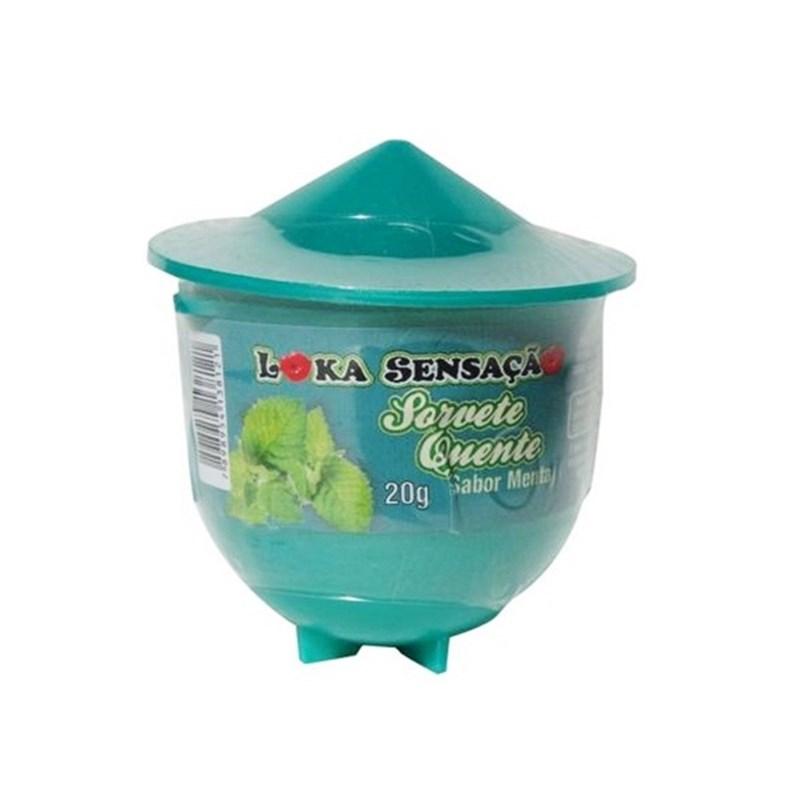 Vela beijável comestível sorvete quente 20g S98 MENTA